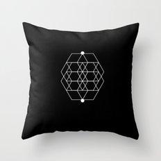 Mesh Geometry Black Throw Pillow