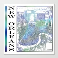 new orleans Canvas Prints featuring New Orleans by Catherine Holcombe