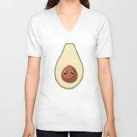 avocado V-neck T-shirts featuring Avocado by GarethAdamson