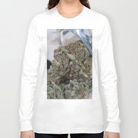 medical Long Sleeve T-shirts featuring Silver Afghan Medical Marijuana by BudProducts.us