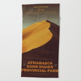 Athabasca Sand Dunes Poster Beach Towel