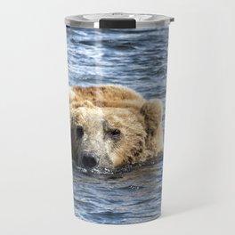 Brown Bear Cooling Off Travel Mug
