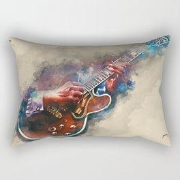 BB King's electric guitar, guitar wall art, studio decor, music room decor, gift for guitarist Rectangular Pillow