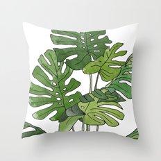 Philodendron Selloum Throw Pillow