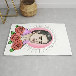 traditional tattoo Frida Rug