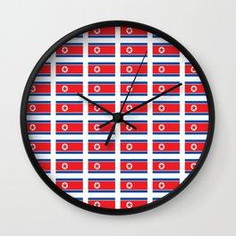 Flag of north korea-korea, korean,Pansori,PyongYang,북조선 Wall Clock
