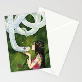 The White Snake Stationery Cards