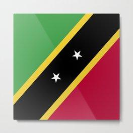 Saint Kitts and Nevis flag emblem Metal Print