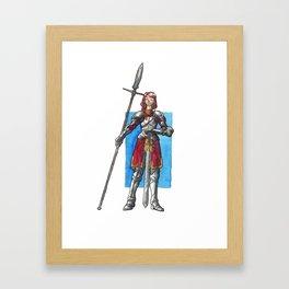 Red Knightess Framed Art Print