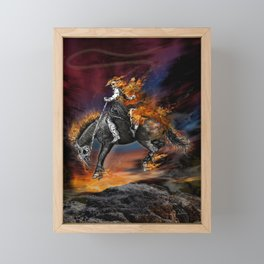 Texas Ghost Rider Framed Mini Art Print