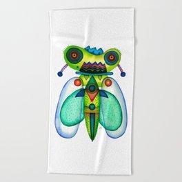 Dragonfly Moth Beach Towel