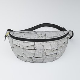 Grey Peeling Paint Texture Design Fanny Pack