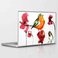 robin Laptop & iPad Skins featuring ROBIN by genie espinosa