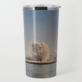 Frozen Landscape. Travel Mug