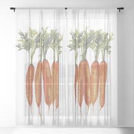Carrots Watercolor Sheer Curtain