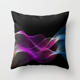 Many colored lines Throw Pillow