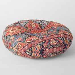 Kashan Poshti Central Persian Rug Print Floor Pillow