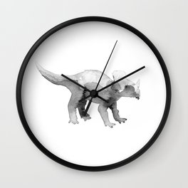 Triceratops. Wall Clock