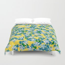 Summer Flowers Yellow Duvet Cover