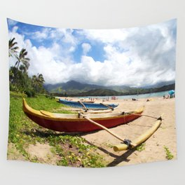 outrigger canoe Wall Tapestry