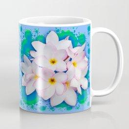 Plumeria Bouquet Exotic Summer Pattern Coffee Mug