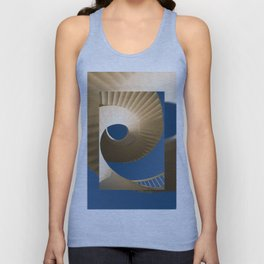 bottom view at twisted stairs Unisex Tank Top