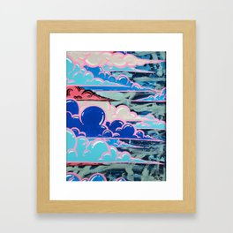 Cake Clouds Framed Art Print