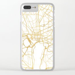 WASHINGTON D.C. DISTRICT OF COLUMBIA CITY STREET MAP ART Clear iPhone Case