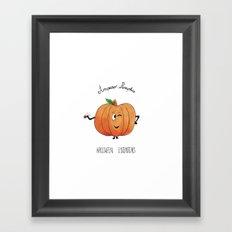Amparo pumpkin Framed Art Print