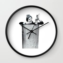 Carrie Fisher in a Trashcan Wall Clock