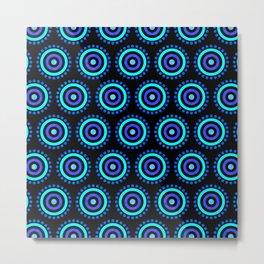 Seamless Colorful Circle Pattern III Metal Print