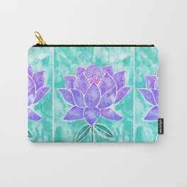 Sacred Lotus – Lavender Blossom on Mint Palette Carry-All Pouch