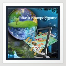 Life is like a Board Game Art Print
