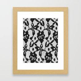 Black Lace Framed Art Print