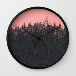 Blackstone and pink Wall Clock