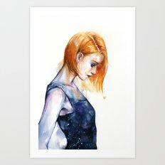 heliotropic girl Art Print