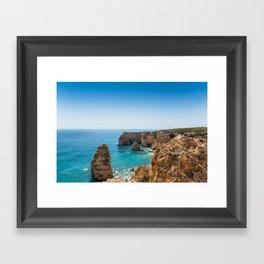 Beach at Lagoa, Algarve, Portugal II Framed Art Print