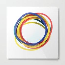 Several Stationery Rubbers Metal Print