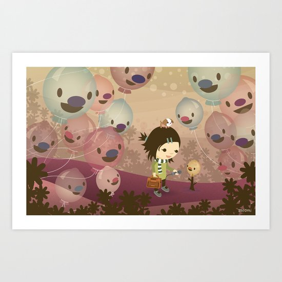 Balloon Tree Song Art Print