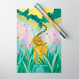 Tigers in Garden Wrapping Paper