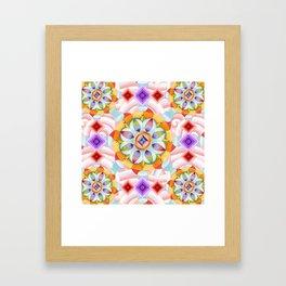 Beaux Arts Pink Waves Framed Art Print