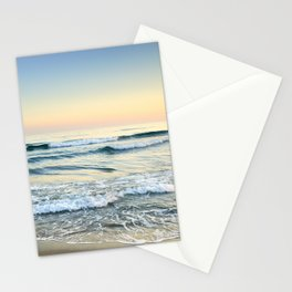Serenity sea. Vintage. Square format Stationery Cards