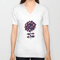 flora V-neck T-shirts featuring Flora by Valendji