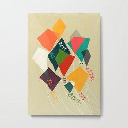 Whimsical kites Metal Print