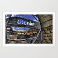 steelers Art Prints featuring steelers by LMFK