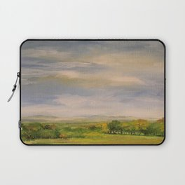 Scenic Autumn Late Afternoon in Vermont Nature Art Landscape Oil Painting Laptop Sleeve