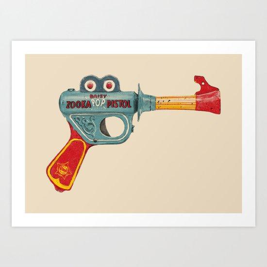 Gun Toy Art Print