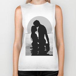 Lovers Black and White Biker Tank