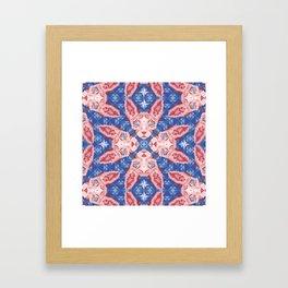 Sphynx Cat - Rose Quartz and Serenity version Framed Art Print