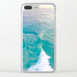 Sunrise Surfers Clear iPhone Case